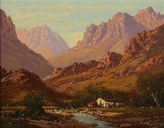 tinus de jongh Landscape Art, Landscape Paintings, South African Artists, Artist Art, Art Oil, All Art, Flower Art, Arizona, Canvas Art