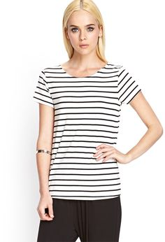 forever 21 SCOOP BACK STRIPED TEE - Google Search