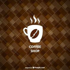 幾何学的なコーヒーショップの背景