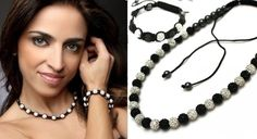 Beautiful Full Black & White Unisex Crystal Shamballa #Necklace & #Bracelet in (17 different colours) Shop @ http://www.completethelookz.co.uk/deals/full-bw-necklace