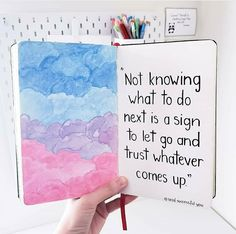 Hi friends! 🙋♀️ I painted some clouds last night. ✨ Hope you enjoy my new quote+clouds illustration. Bullet Journal Quotes, Bullet Journal Notebook, Bullet Journal Ideas Pages, Bullet Journal Inspiration, Art Journal Pages, Doodle Quotes, Bullet Journal Aesthetic, Art Diary, Hand Lettering Quotes