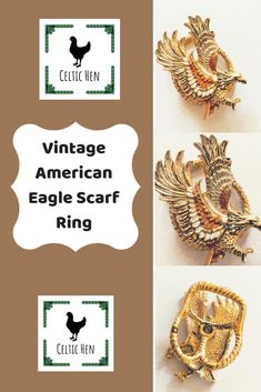 Excited to share this item from my shop: Vintage Jewellery, Vintage Brooches, Vintage Earrings, Vintage Gifts, Retro Vintage, Vintage Items, Art Nouveau, Scarf Rings, Thanksgiving Gifts