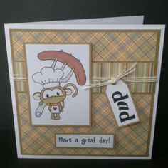 dad greetings card birthday bbq theme blank humorous by jujucards, £2.50