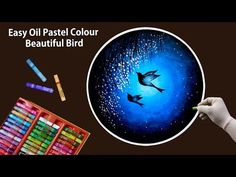 Hello Friends Welcome to Our Channel Friends Our Channel makes videos on different type of Art Media In this Video we show you Oil Pastel Color Media to make. Oil Pastel Paintings, Oil Pastel Drawings, Oil Pastel Art, Bird Drawings, Colorful Drawings, Crayon Painting, Easy Canvas Painting, Diy Canvas Art, Oil Pastel Techniques