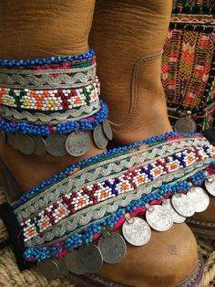 Bohemian boot belts from Ibiza no 11 by AUROBELLE on Etsy