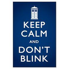 You blink, you die.