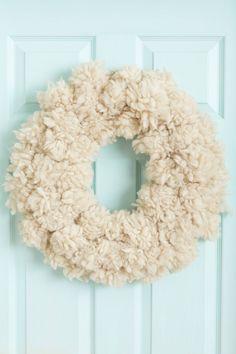Fluffed Wool Wreath