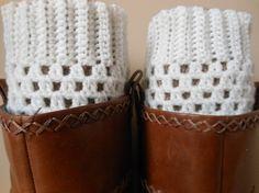 Hand Crocheted Boot Cuffs Leg Warmers