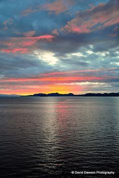 Alaska Cruise 2010 Cruising the inside passage at sunset