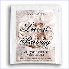 Love is Brewing Tea Wedding Favor