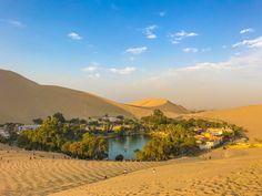 Peru's desert oasis: Lake Huacachina #peru #southamerica #inca #visitperu #andes #lima #desert #oasis