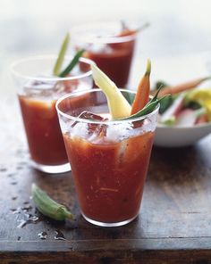 Brunch wouldn't be the same without a Bloody Mary. For a twist, replace the horseradish with wasabi, drop in a Kumamoto oyster and garnish with pickled ginger for a bracing oyster shooter.
