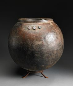 Collection: Dick Jemison African Ceramics  Artist: Bamana people, Mali African  Medium: fired clay  Object Type: vessel