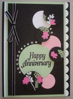A031 Hand made anniversary card based on a card I saw on Pinterest