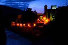 64 Panorama Notturno , Viale della stazione , Subbiano , Arezzo , Toscana . ( foto di Christian Deledda ) .