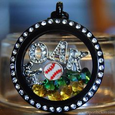 Oakland A's baseball locket necklace – SportLockets.com