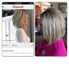 Aline bob ❤ the haircut I did on my friend to duplicate the Pinterest picture