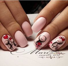 nail designs designs for short nails 2019 kiss nail stickers nail appliques nail art strips Fancy Nails, Love Nails, Trendy Nails, My Nails, Valentine's Day Nail Designs, Nails Design, Design Design, Valentine Nail Art, Valentines Design
