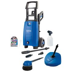 Nilfisk Compact C120.6-6PCA-XTRA Pressure Washer Comes With High Pressure Hose, Quick Connect Gun and Lance Set, Tornado PR Nozzle, Power Speed Nozzle, Foam Sprayer, Chemical Bottle, Patio Cleaner and Auto Wash Brush