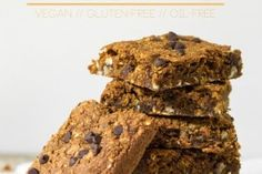 Pumpkin Oatmeal Anytime Squares (vegan, gluten-free, oil-free)