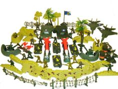 150+ Army Military Play Set Soldiers Missiles Trucks Planes Blockade Walls! by Military Force. $17.99. Missiles, Tanks, Jets, Trees, Brick walls, barriers, bombs. 100 pcs army men (2 inches tall). You'll get 2 of 3 different colors.. Great Gift For Kids!!. Flags, fences, army men, and other accessories.. Warning: Small Parts. Choking Hazard. Not for children under 3 years of age.