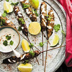Schichimi Lamb Kofta Kebabs by Fiona Uyema. | A simple and spicy dish perfect for BBQ season.