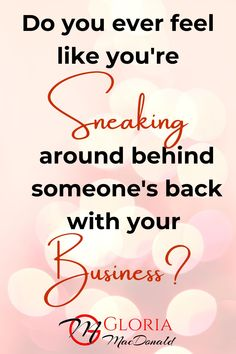 Do you ever feel like you're sneaking around behind someone's back with your business?  Maybe you don't want your husband, wife, partner, or some other family member to know how much money you're spending on programs, courses, or company events?  Maybe you're waaaaaay in the hole in terms of how much money you've spent on your business vs. how much you've made?  I know.  I've been there.