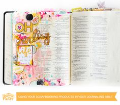 Using Scrapbook Products in your Journaling Bible