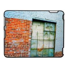 'URBAN INDUSTRIAL' iPAD CASE, by The Flying Pig Gallery on Zazzle (lizadeyphoto) - This iPad case features a colorful urban scene featuring the broken window of an old, abandoned factory on the far west side of Manhattan.