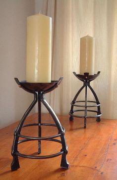 candlesticks forged by James Price of BABA (British Artist Blacksmiths Association)