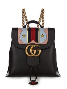 e18765a25d4 Gucci GG Marmont leather backpack Fashion Handbags, Gucci Handbags, Tote  Handbags, Leather Handbags