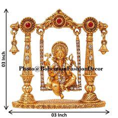 Ganesha on Jhoola Swing Brass Showpiece Showpieces for Home | Etsy