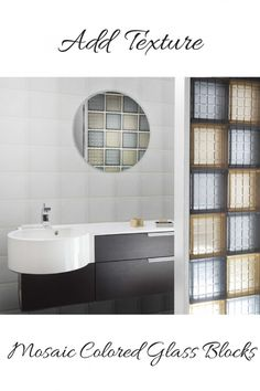 Here's a cool new option in glass block shower design - textured mosaic glass blocks. Learn about this new evolutionary block - and 4 other innovative ideas in this blog post.