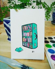 """14 Likes, 2 Comments - Jords & Mel (@bookcaseaus) on Instagram: """"A little watercolour postcard Mel painted last week! Getting into the Bookcase spirit!⠀…"""""""