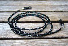 Brillenkette schwarz von Unbehauen - Schmuckdesign auf DaWanda.com