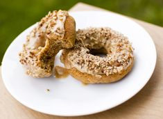 Pumpkin Spice Doughnuts with Pumpkin Pecan Glaze from Fo Reals Life