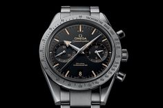 Baselworld 2015 – Omega Speedmaster 57 Co-Axial revisited with Broad Arrow Hands and new dial – Specs and Price | https://monochrome-watches.com/omega-speedmaster-57-co-axial-broad-arrow-baselworld-2015-price/