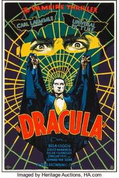 Dracula Francesco Francavilla Mondo Universal Monsters Poster Print Art 2018 Pre-Sale, will ship when in hand. Jan Will ship in a strong tube an. Classic Movie Posters, Classic Horror Movies, Movie Poster Art, Vintage Movie Posters, Arte Horror, Horror Art, Funny Horror, Tv Movie, Comic Movie