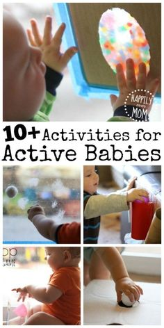 If you need activities for babies that are always on the move, look no further. These simple ideas will keep babies active and engaged for hours!