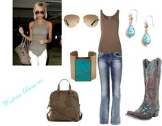 Love a brown and turquoise combination!  http://www.westernglamour.com/posh-styling/