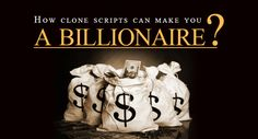 How Agriya's ‪#‎clonescripts‬ can make you a billionaire? To know more: http://www.saveintrash.com/how-clone-scripts-can-make-you-a-billionaire/ Scripts, Billionaire, Make It Yourself, Script Typeface, Script