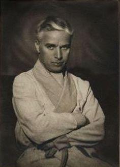 Photo of Chaplin by the M. Lambert Studio in Nice, 1931