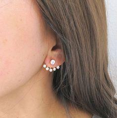 Cubic Zirconia Earrings, Crystal Earrings, Women's Earrings, Silver Earrings, Diamond Earrings, Chandelier Earrings, Cartilage Earrings, Stud Earring, Flower Earrings