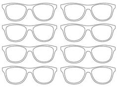 Free Coloring Pages Of Nerd Glasses Clip Art