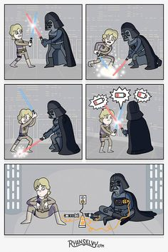 Tagged with star wars, starwars; Shared by My favorite Star Wars posts from the past year Star Wars Meme, Star Wars Witze, Star War 3, Humor Grafico, Love Stars, Funny Comics, Funny Pictures, Funny Memes, Memes Humor