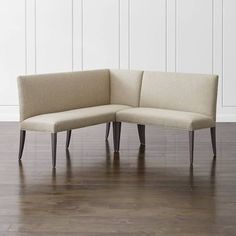 Amazon.com: Silver Modern Banquette Bench Seating With High Back ...