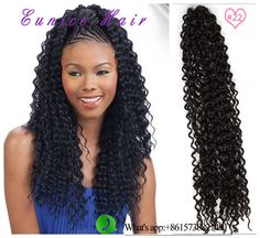 """Find More Bulk Hair Information about Freetress hair 22"""" water wave synthetic twist #2,#33 crochet braid hair extensions,braiding hair,synthetic curly crochet braids,High Quality hair accessories with feathers,China hair extensions for black hair Suppliers, Cheap hair color for dark hair from Eunice twist braiding hair  on Aliexpress.com"""