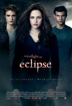 """Eclipse - American romantic fantasy film, based on a novel of the same name, the third instalment in """"The Twilight Saga"""" film series, 2010"""