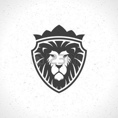 Illustration of Lion face icon emblem template for business or t-shirt design. vector art, clipart and stock vectors. Design Vector, Vector Art, Narnia, Lion Icon, Face Icon, Lion Design, Lion Logo, Shirt Print Design, Vintage Design