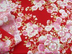 ▲和柄 - 商品詳細 和調プリント 桜(6711) 112cm巾/生地の専門店 布もよう